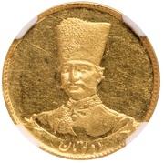 2 Toman - Naser al-Din Qajar (mule) – obverse