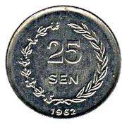 25 Sen – reverse