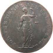 ½ Penny (Dublin - Talbort Fyan) – obverse