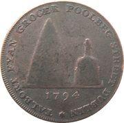 ½ Penny (Dublin - Talbort Fyan) – reverse