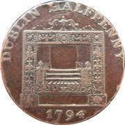 ½ Penny (Dublin - Parker's) – reverse