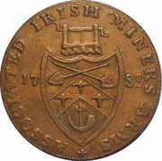 Associated Irish Miners halfpenny – reverse