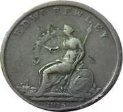 1 Penny (Wellington - Edward Bewley) – reverse