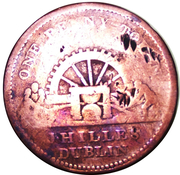 1 Penny (Dublin - J. Hilles) – obverse