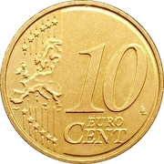 10 Euro Cent (2nd map) – reverse