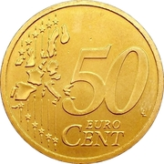50 Euro Cent (1st map) – reverse