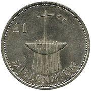 1 Pound (Millennium) – reverse