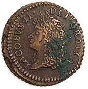 12 Pence/ Shilling - James II (Gun Money Small Coinage) – obverse