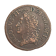 30 Pence - James II (Gun Money Small Coinage) – obverse