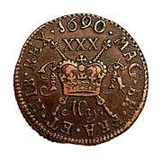 30 Pence - James II (Gun Money Small Coinage) – reverse
