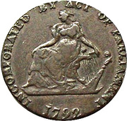 ½ Penny (Dublin - Camac Kyan and Camac) – obverse