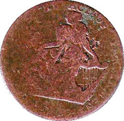 ½ Penny (Dublin - Turner Camac) – obverse