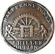 ½ Penny (Dublin - Hilles Ironmongers) – obverse