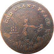 ½ Penny (Dublin - God grant Peace) – obverse
