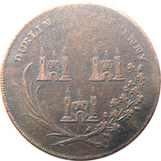 ½ Penny (Dublin - God grant Peace) – reverse