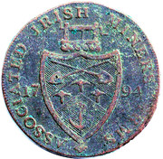 ½ Penny (Wicklow - Cronebane / Miners Arms) – reverse
