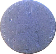 ½ Penny Wicklow (Cronebane - Standing Justice) – obverse