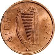 ½ Penny -  obverse