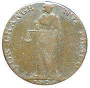 ½ Penny Wicklow (Cronebane - Standing Justice) – reverse
