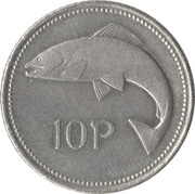 10 Pence (small type) -  reverse
