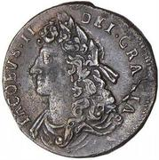 ½ Penny - James II – obverse