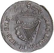 ½ Penny - James II – reverse
