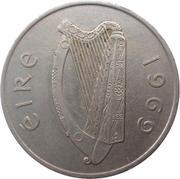 10 Pence (large type) – obverse