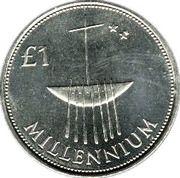 1 Pound (Millennium Punt; Silver Pattern Strike) – reverse
