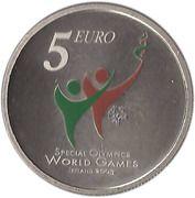 5 Euro (Special Olympics) – reverse