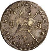 1 Shilling - James II (Gun Money Large Coinage) – reverse