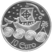 10 Euro (St. Brendan the Navigator) – reverse