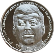 10 Euro (J.F. Kennedy) – reverse