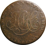 ½ Penny (Dublin - Camac Kyan and Camac / John of Gaunt) – obverse