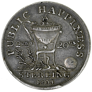 1 Shilling - 1804 -  Public Happiness – reverse