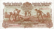 5 Pounds / Puint (Hibernian Bank) – obverse
