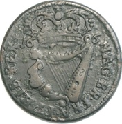 ½ Penny - William III – reverse