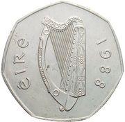 50 Pence (Dublin Millennium) – obverse