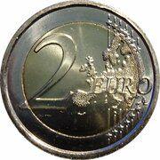 2 Euro (10 Years of Euro Cash) – reverse