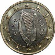 1 Euro (2nd map) – obverse