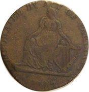 ½ Penny (Ireland - Shakespeare) – reverse