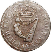 ½ Penny - Charles II (large letters) – reverse