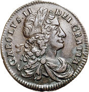 ½ Penny - Charles II (small letters) – obverse