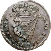 ½ Penny - Charles II (small letters) – reverse