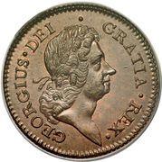 ½ Penny - George I – obverse
