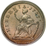 ½ Penny - George I – reverse