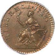 "1 Farthing - George I (""DEI GRATIA"") – reverse"