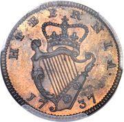 1 Farthing - George II – reverse