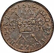 30 Pence - James II (Gun Money Large Coinage) – reverse