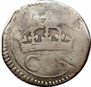 12 Pence - Charles (Ormond: Siege coinage) – obverse