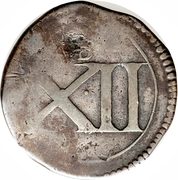 12 Pence - Charles (Ormond: Siege coinage) – reverse